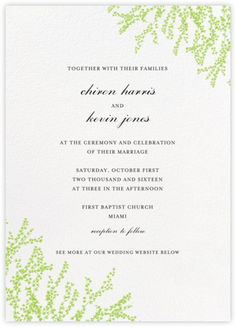 Forsythia (Invitation) - Leaf Green - Paperless Post -