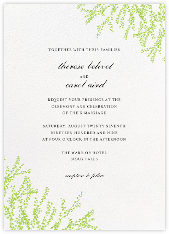 Forsythia (Invitation) - Leaf Green   null
