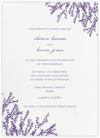 Forsythia (Invitation) - Mulberry - Paperless Post - Wedding Invitations