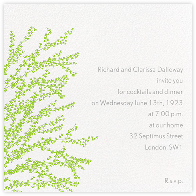Forsythia - Green - Paperless Post - Spring Party Invitations
