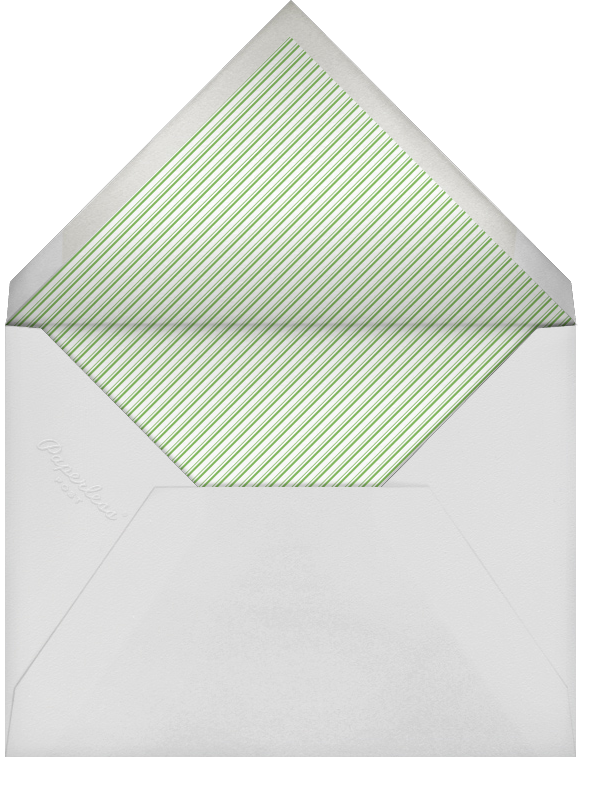 Forsythia (Green) - Paperless Post - Engagement party - envelope back