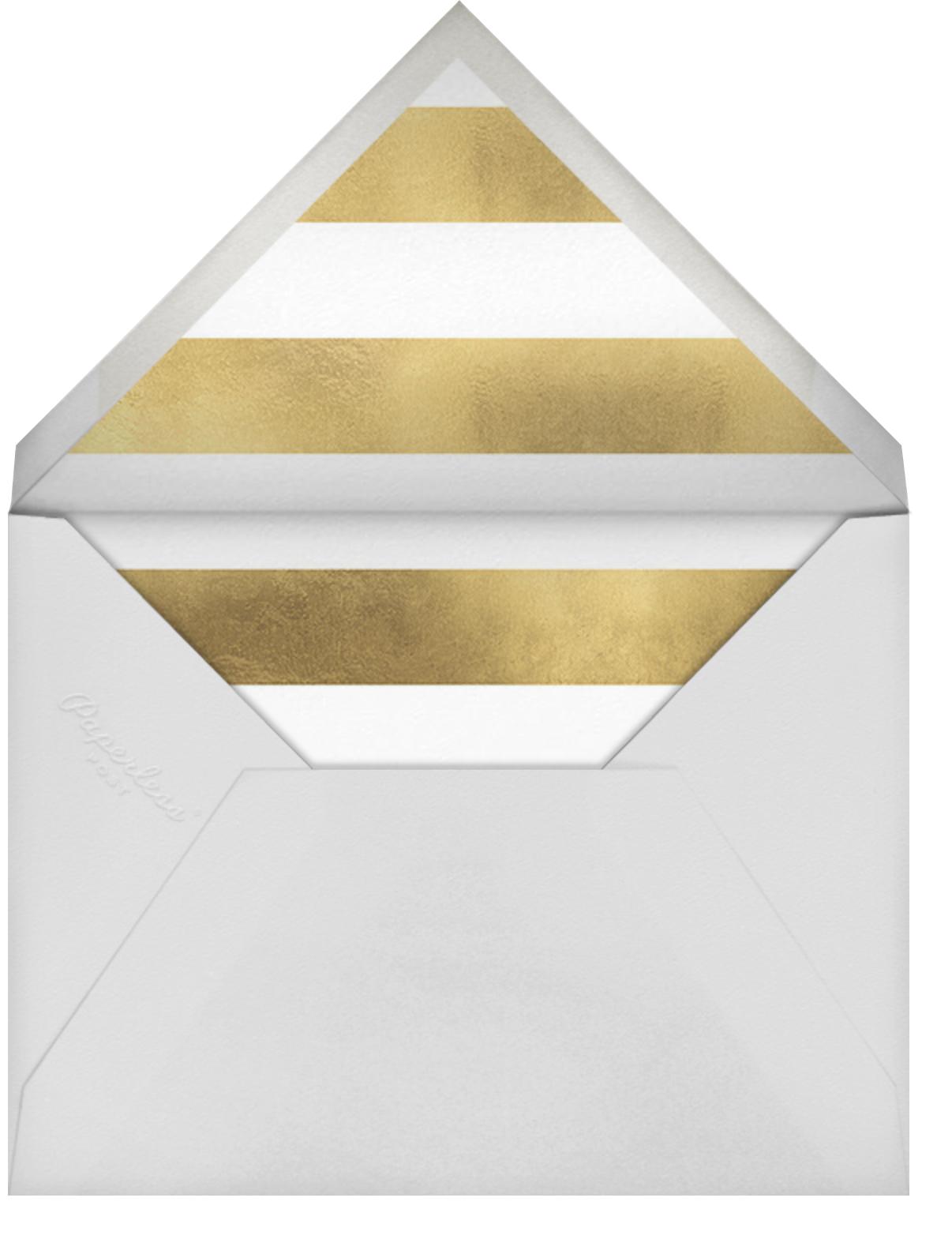 Luminous Heart - White/Gold - Sugar Paper - Wedding brunch - envelope back