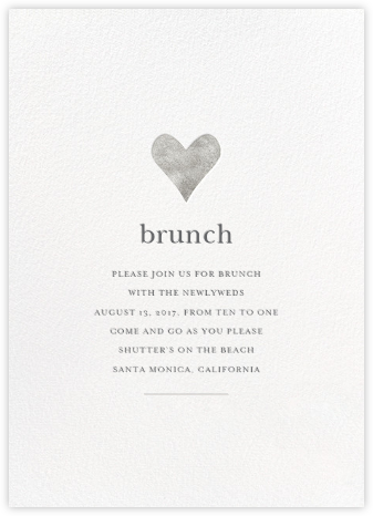 Luminous Heart - White/Silver - Sugar Paper - Brunch invitations