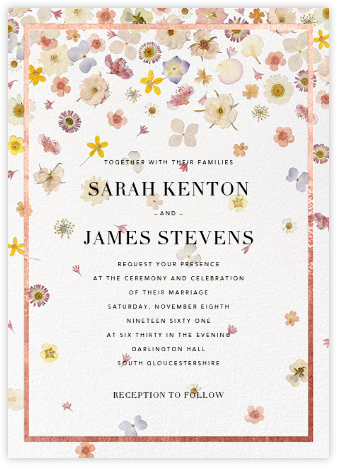 Vincennes (Invitation) - Rose Gold - Paperless Post - Wedding Invitations