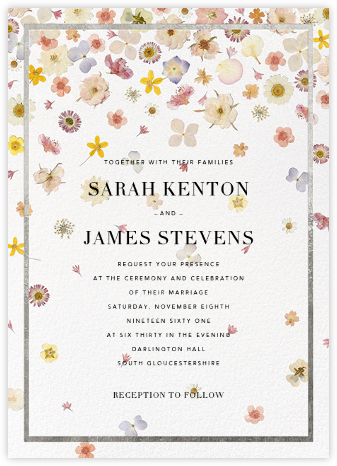 Vincennes (Invitation) - Silver - Paperless Post - Wedding Invitations