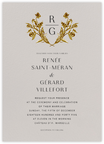 Le Nôrte (Invitation) - Oyster - Paperless Post - Wedding Invitations
