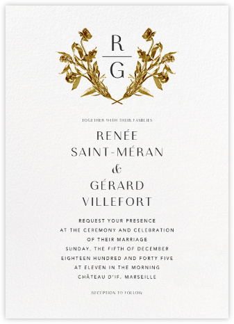Le Nôrte (Invitation) - White - Paperless Post - Online Wedding Invitations
