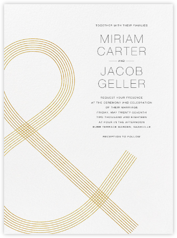 Stave (Invitation) - Vera Wang - Modern wedding invitations