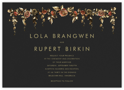 Fontainebleau (Invitation) - Paperless Post - Online Wedding Invitations