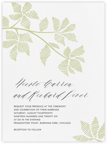 Rio Novo (Invitation) - Celery - Crane & Co. - Wedding invitations