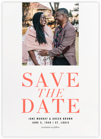Caserini - Paperless Post - Modern save the dates