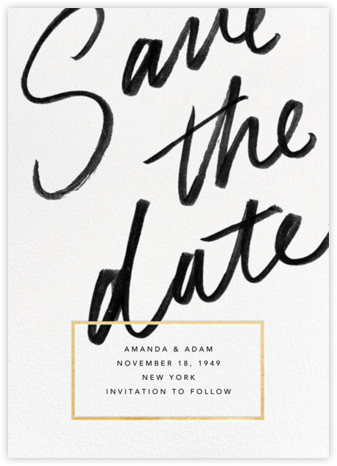 Deighton - Gold - Paperless Post - Modern save the dates