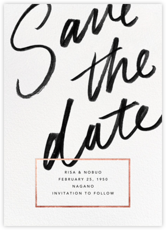 Deighton - Rose Gold - Paperless Post - Modern save the dates