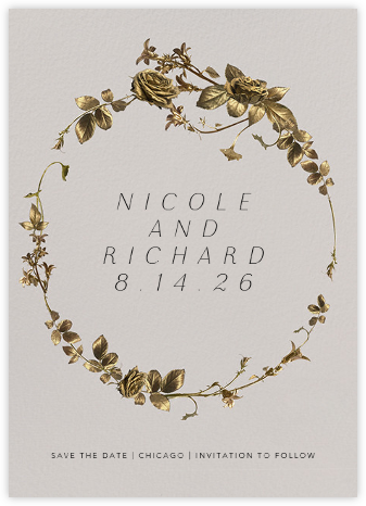 Girardin (Save the Date) - Oyster - Paperless Post - Modern save the dates