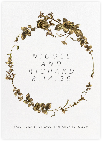 Girardin (Save the Date) - White - Paperless Post - Save the date cards and templates