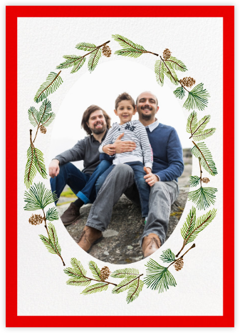Delicate Firs Photo (Tall) - Paperless Post - Holiday Cards