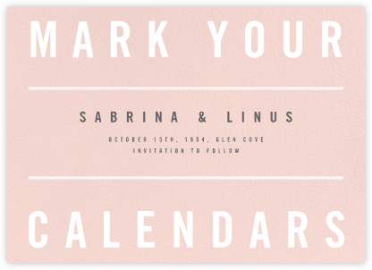Clarion II - Paperless Post - Wedding Save the Dates