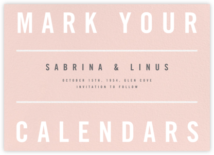 Clarion II - Paperless Post - Modern save the dates