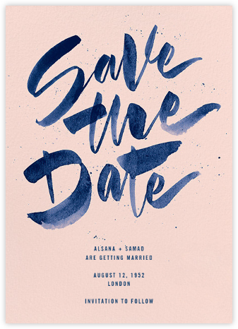 Johanna - Meringue - Paperless Post - Modern save the dates