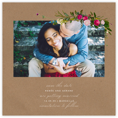 Belvoir (Photo Save the Date) - Chipboard - Paperless Post - Save the date cards and templates