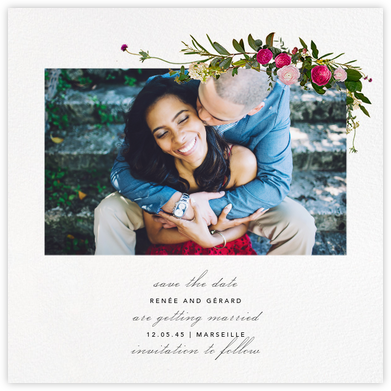 Belvoir (Photo Save the Date) - White - Paperless Post - Save the dates