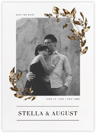 Levasseur - Paperless Post - Gold and metallic save the dates