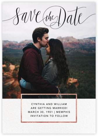 Saint-Preux (Photo) - Black/Rose Gold - Paperless Post - Save the dates
