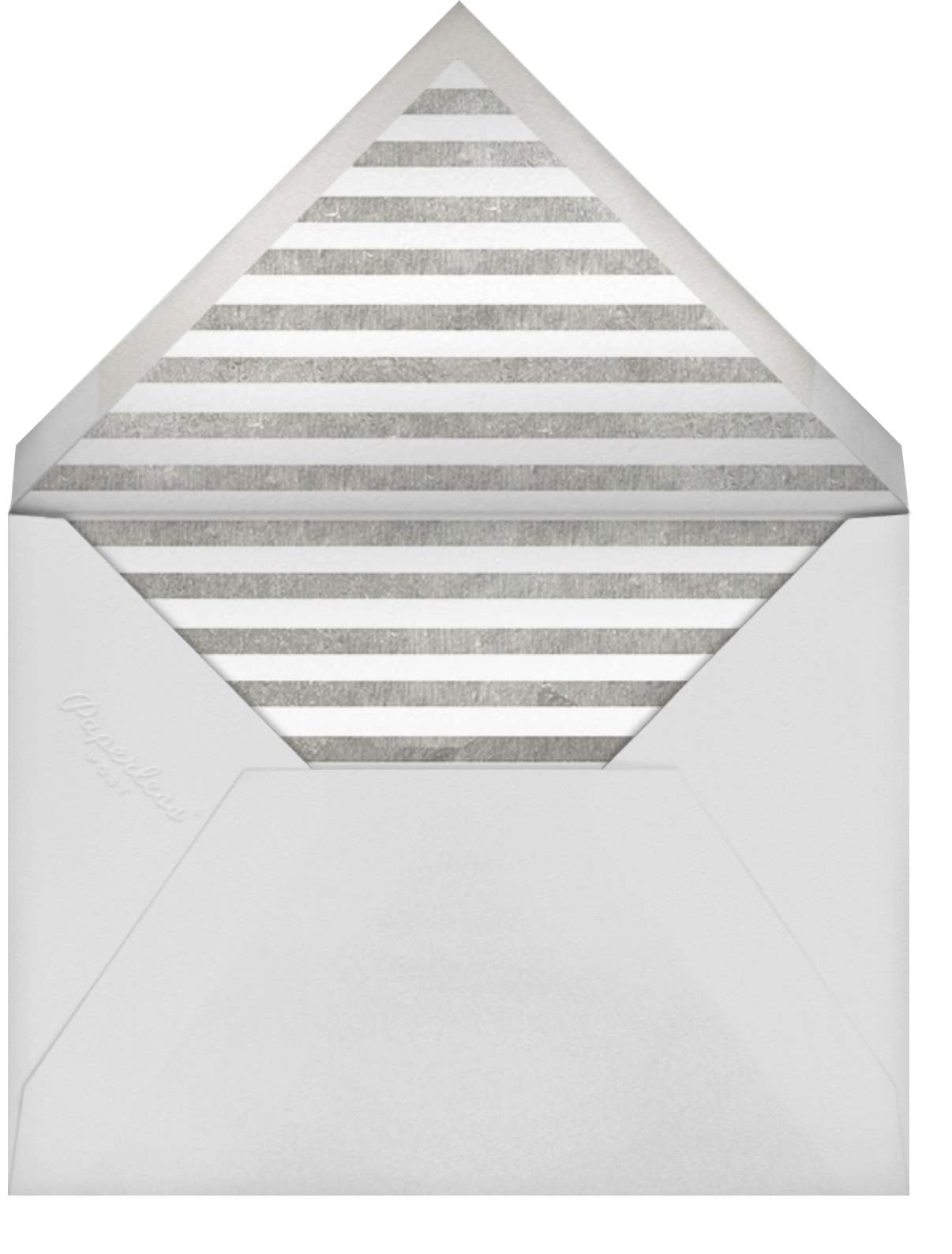 Saint-Preux (Photo) - White/Silver - Paperless Post - Photo  - envelope back