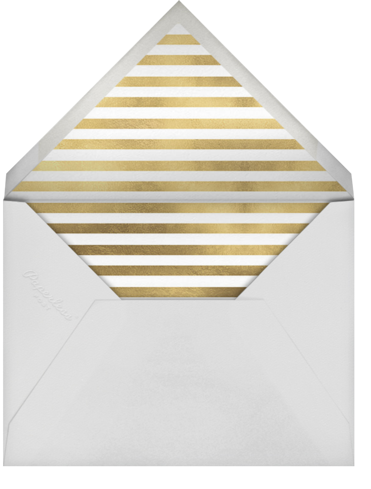 Saint-Preux (Photo) - White/Gold - Paperless Post - Party save the dates - envelope back
