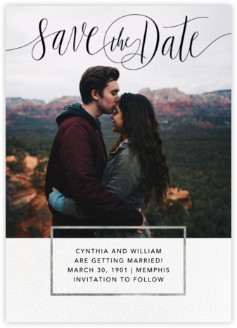 Saint-Preux (Photo) - Black/Silver - Paperless Post - Save the dates