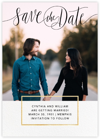 Saint-Preux (Photo) - Black/Gold - Paperless Post - Gold and metallic save the dates