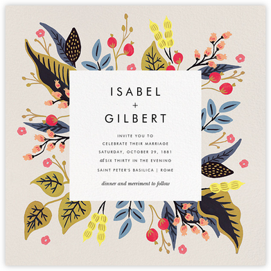 Egret Garden (Square) - Rifle Paper Co. - Wedding Invitations