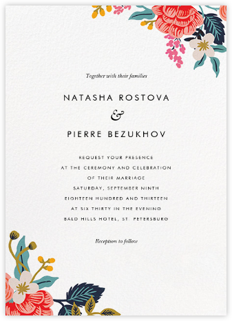 Birch Monarch Suite (Invitation) - Rifle Paper Co. - Rifle Paper Co. Wedding