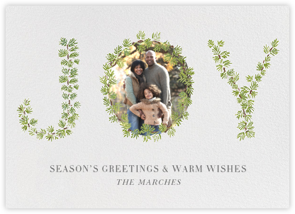 Joyous Trimmings - Paperless Post - Holiday Cards