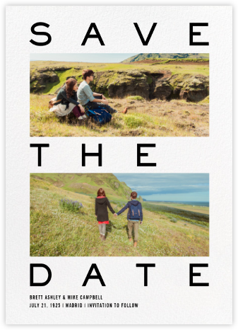 Pastrone - Paperless Post - Modern save the dates