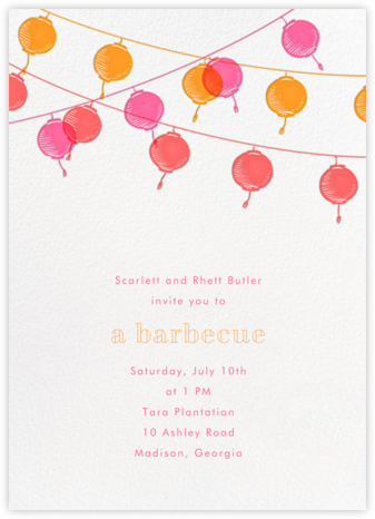 Lanterns - Sherbert - Paperless Post - Summer entertaining invitations