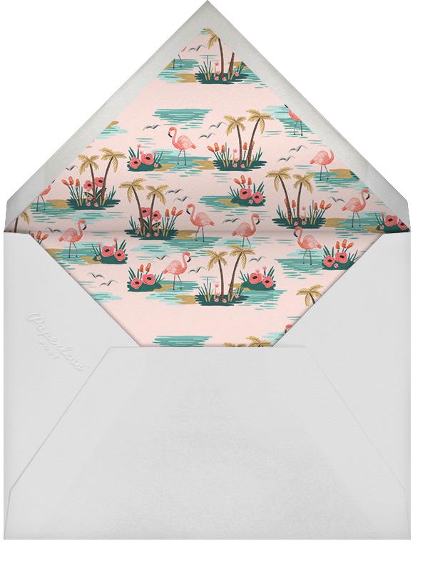 Flamingo Lagoon (Invitation) - Pink - Rifle Paper Co. - All - envelope back