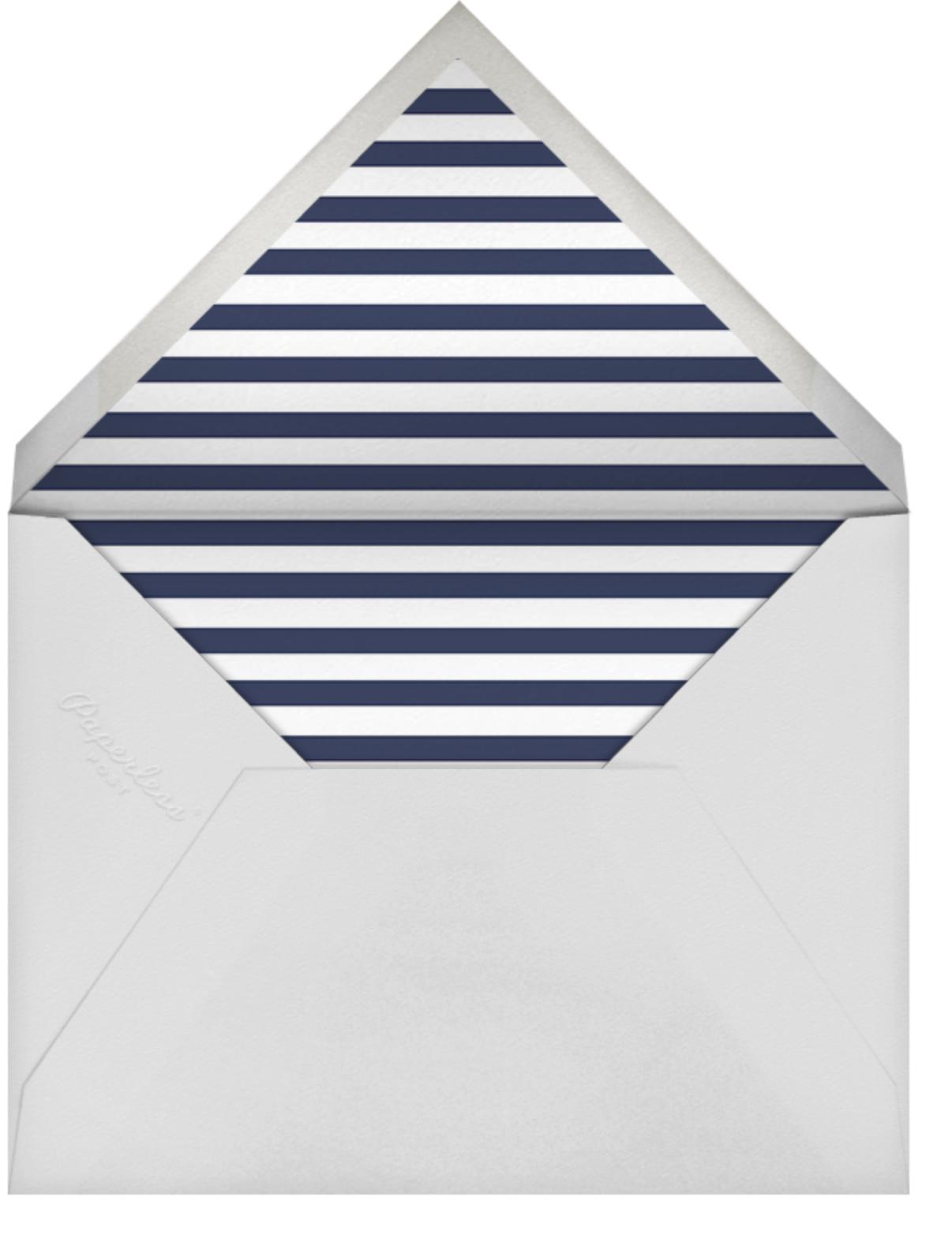 Confetti (Horizontal Invitation) - Navy/Silver - kate spade new york - All - envelope back