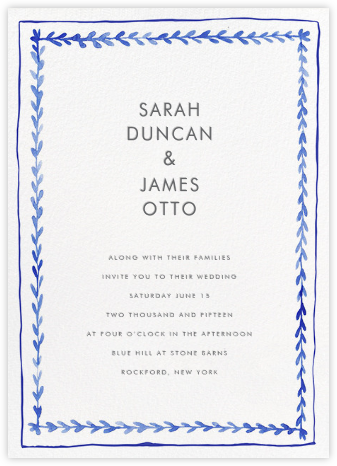 Branch Border (Invitaiton) - Tall - Linda and Harriett - Wedding Invitations