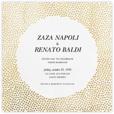 Konfetti - Gold - Kelly Wearstler - Wedding Invitations