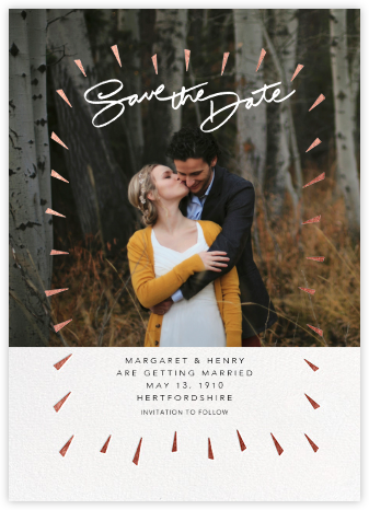 Varvara - Rose Gold - Paperless Post - Photo save the dates