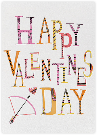 Valentine Arrow (Carrie Gifford) - Red Cap Cards - Valentine's day cards