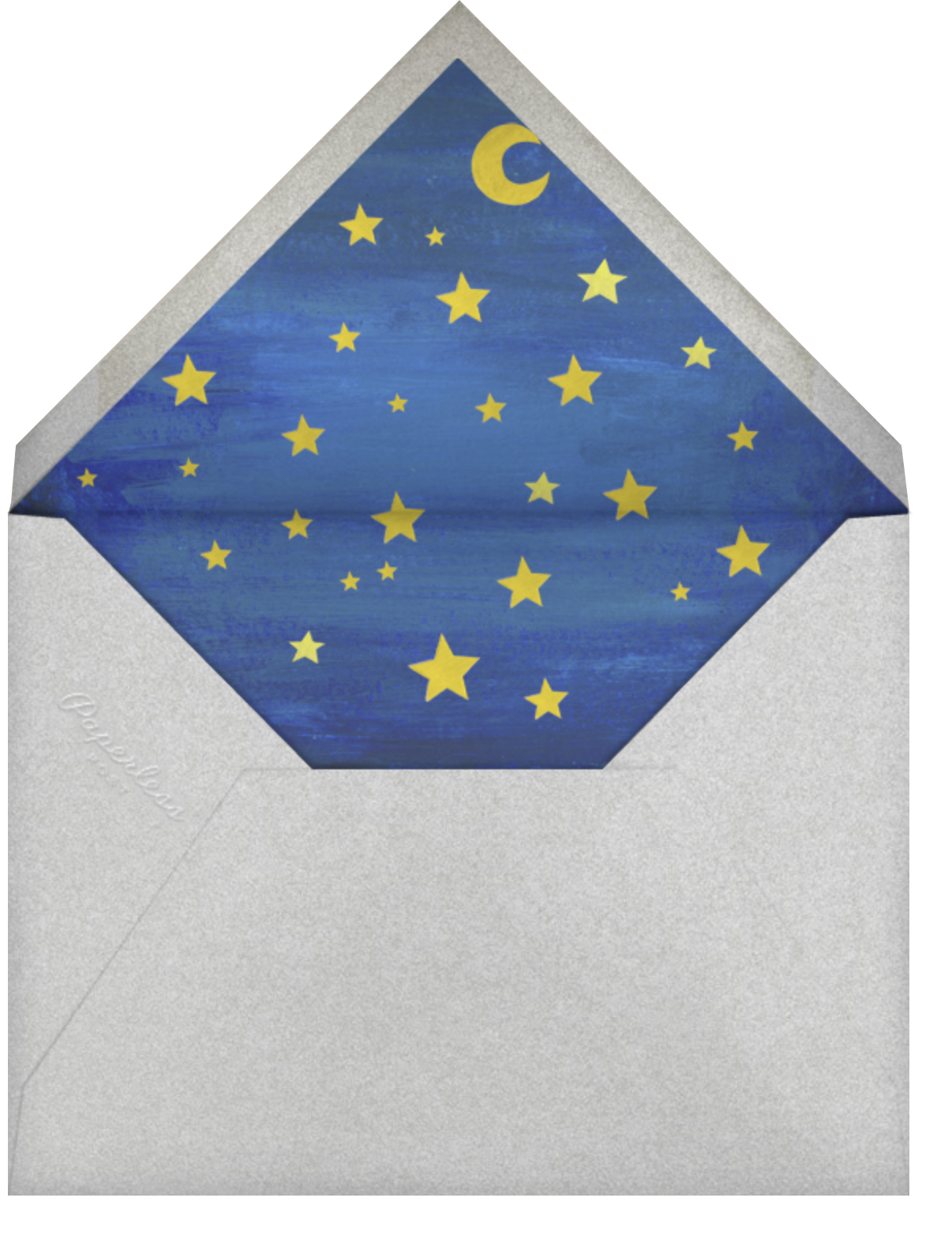 Outer Space - Paperless Post - Classroom valentines - envelope back