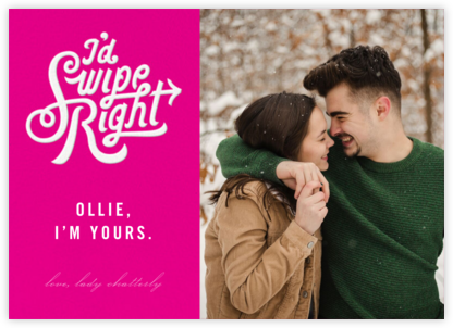 Swipe Right (Photo) - Paperless Post - Valentine's Day Cards
