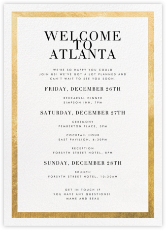 Editorial II (Welcome Letter) - White/Gold | tall