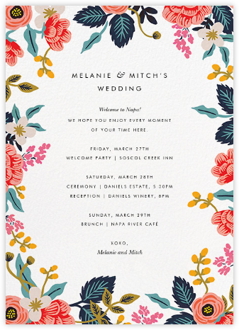 Birch Monarch Suite (Welcome Letter) - Rifle Paper Co. -