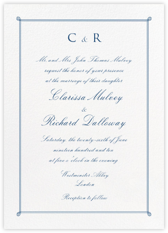 Double Loop Frame Tall - Dark Blue - Paperless Post - Wedding Invitations