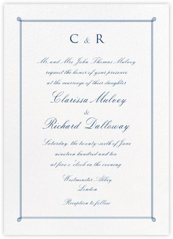 Double Loop Frame Tall - Dark Blue - Paperless Post - Online Wedding Invitations