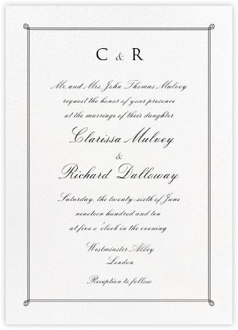 Double Loop Frame Tall - Black - Paperless Post - Online Wedding Invitations