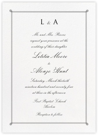 Double Loop Frame Tall - Black - Paperless Post - Wedding Invitations